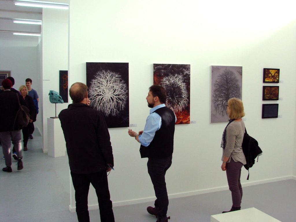 """Suat Sensoy - Schweiz / Basel 8. MixedArt. Werkreihe """"Bäume - Landschaft"""""""