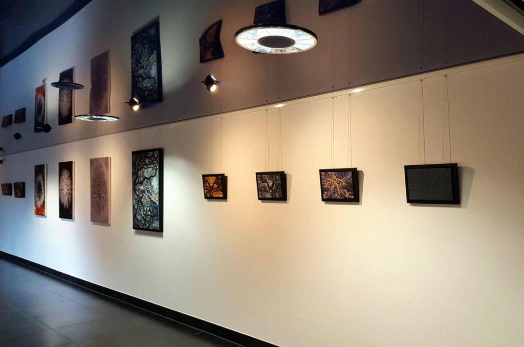"""Werkreihe """"Bäume - Artefakte"""" von Suat Sensoy in der Galerie Piazza / Schweiz. Foto: Robert Varadi"""